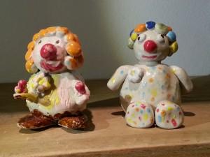 Poterie enfants petits clowns